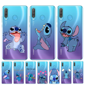 Cartoon Cute Stich Stitch Phone Case For Huawei P30 P20 Lite Pro P10 P9 P8 Lite 2017 Soft Silicone TPU Cover Coque Fundas(China)
