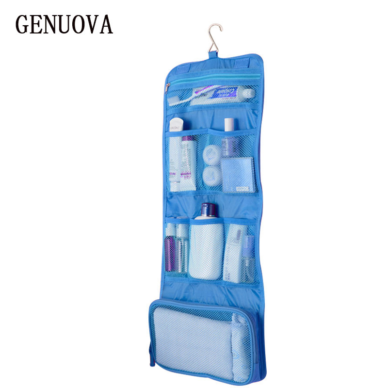 Women Man New Professional Nail Box Organizer Traveling MakeUp Case Foldable Wash Storage Bag Hanging Toiletry Sac Cosmetic Bag spark storage bag portable carrying case storage box for spark drone accessories can put remote control battery and other parts