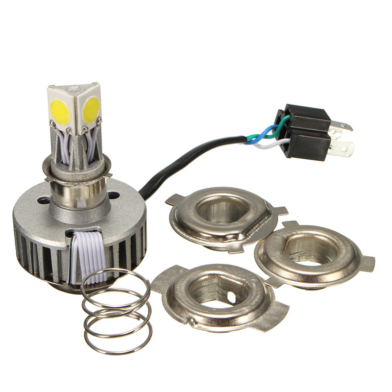 LED Motorcycle Headlight H4 Motorbike Light Headlamp 6000K 2500LM 18W LO/HI Beam High/Low Conversion Kit 12V Head lamp Bulb