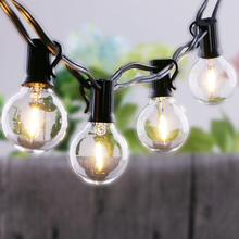 LED Outdoor Globe String Lights Hanging 1W Vintage Bulbs Waterproof Patio Ambience Balcony 25 Ft