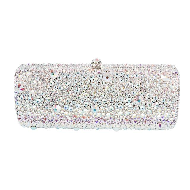 Australian crystal Luxury evening bag Bling party purse Top diamond Boutique Gold silver women wedding Day clutch bag