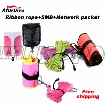 Aturdive submersible like rope wraps combination bundle equipment bags set net bag diving smb line wheel