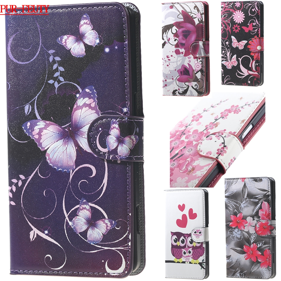 Pink Plum Flip Wallet Leather Case for ASUS Zenfon2 Laser Z00LD ZE550KL <font><b>ZE</b></font> 550KL <font><b>550</b></font> ZE550 <font><b>KL</b></font> Phone Cover for ASUS_Z00LD 5.5inch image
