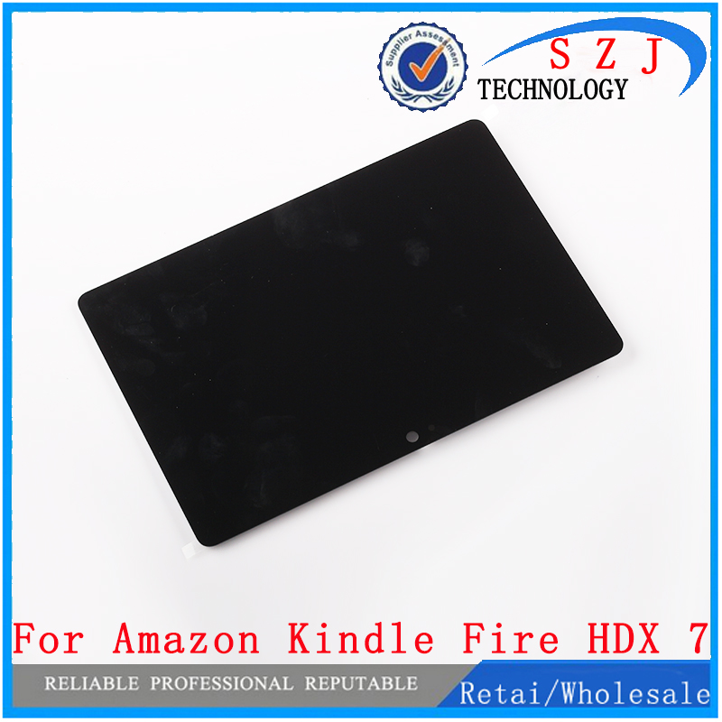 New case For Amazon Kindle Fire HDX 7.0 HDX7 C9R6QM LCD Display Panel Screen + Digitizer Touch Sreen Glass Assembly Replacement new 11 6 full lcd display touch screen digitizer assembly upper part for sony vaio pro 11 svp112 series svp11216px svp11214cxs