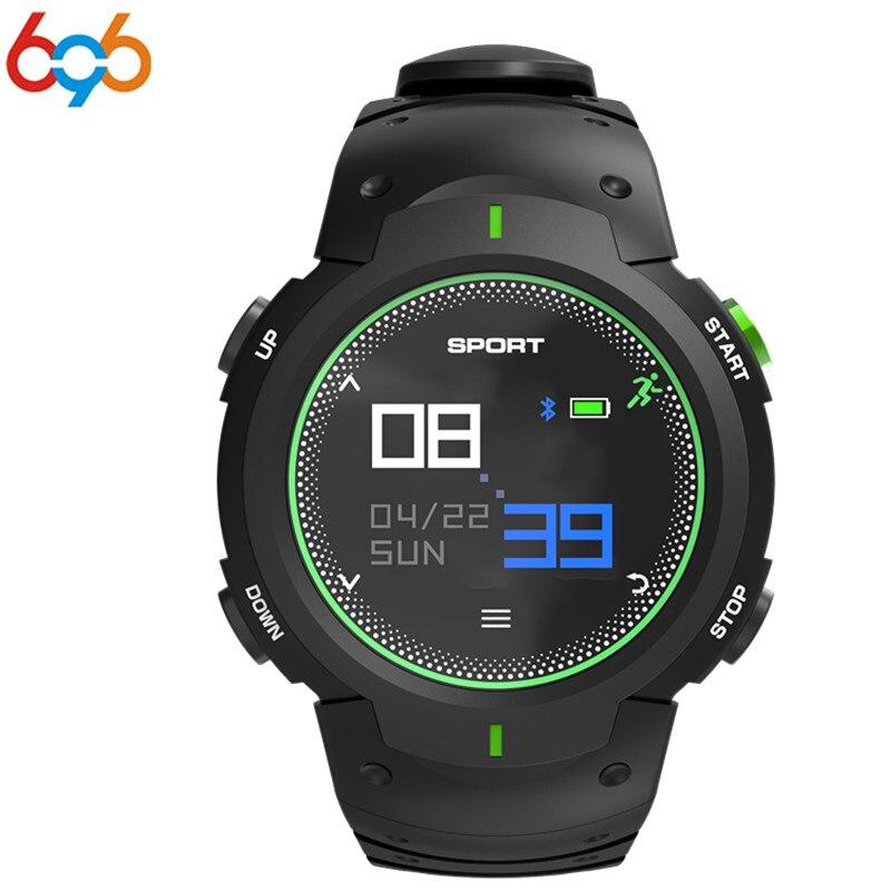 696 F13 montre intelligente étanche IP68 natation Smartwatch Bluetooth moniteur de fréquence cardiaque notifiant rappeler sport bracelet PK F6 F4