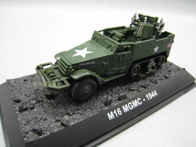 AMER 1/72 Scale Military Model Toys M16 Multiple Gun Motor Carriage 1944 Diecast Metal Tank Model Toy For Collection/Gift
