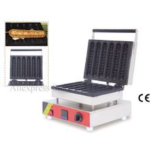 Digital thermostat hot dog waffle machine commercial hotdog waffle maker stainless steel with 6 pcs moulds