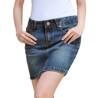 2015Women S Summer Denim Solid Color Jeans Skirts Plus Size XXXXL Female Fashion All Match Mini