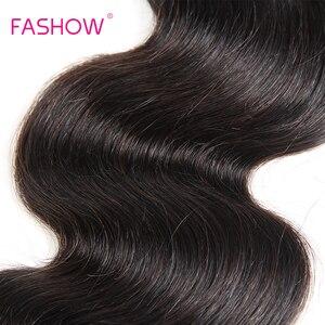Fashow 8-34 36 38 40 дюймовые перуанские волосы плетение пряди волнистые 100% человеческие волосы 1/3/4 пряди натуральный цвет Remy волосы для наращивани...