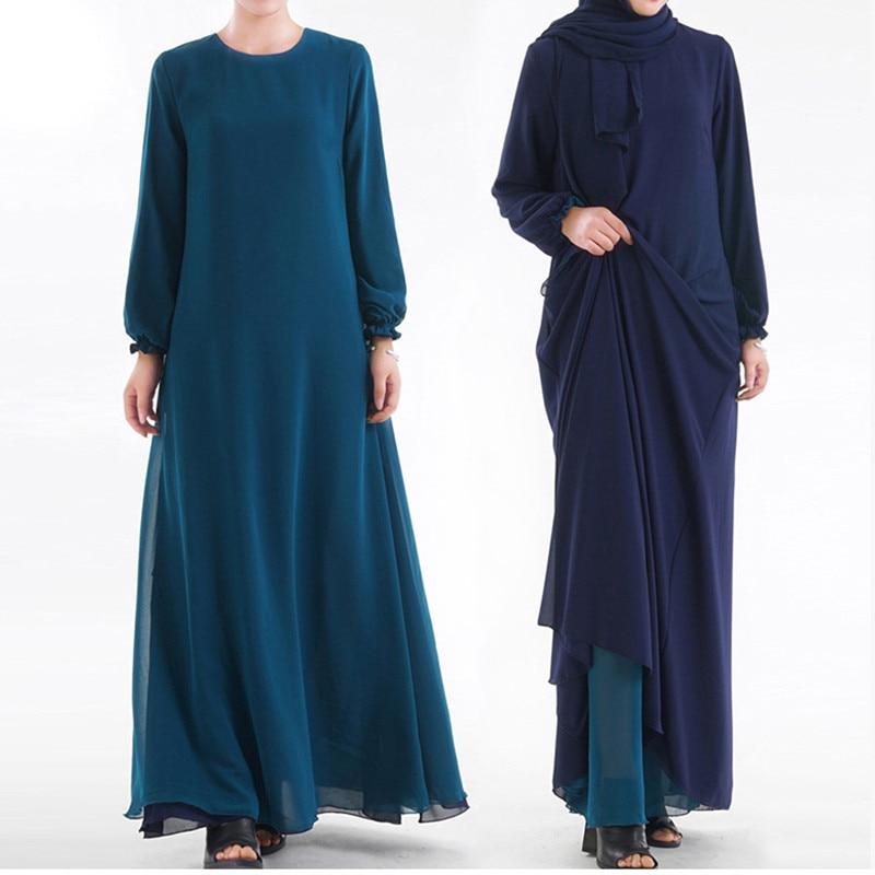 Double Sided Wear Muslim Dress Abaya Dubai Kaftan Malaysia Kimono Cardigan Muslim Hijab Dress Women Turkish Islamic Clothing