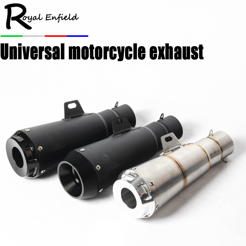2018 New 51MM Universal Motorcycle Exhaust Pipe Escape Laser Marking Motorbike Muffler For DUCATI Scrambler Ninja250 ER6N R3 цена