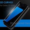 Silkprint 3D superficie curva antiexplosión vidrio templado 9 H 2.5D pantalla completa película del Protector de la cubierta para samsung galaxy S7 borde