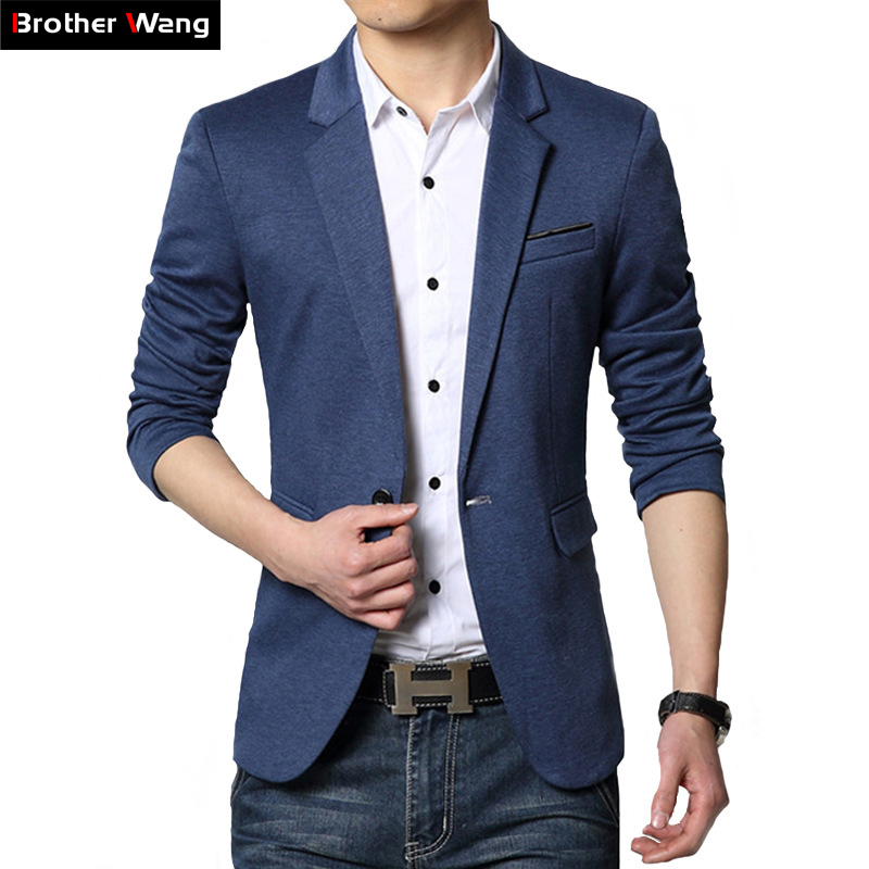 2020 Autumn New Men's Casual Suit Fashion Business Solid Color Classic Style Blazer Coat Jacket Brand Clothing