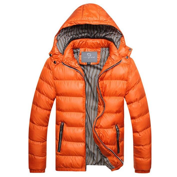 הי אלף 2017 הגעה לניו גברים אופנה החורף מזדמנים למטה מעיל עם ברדס גבר מעיל ז ' קט Windproof באיכות גבוהה בתוספת גודל MWM516