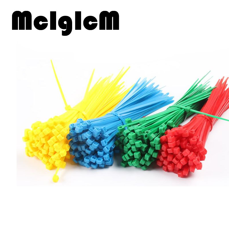 100PCS 4*200MM Standard Cable Tie Plastic Nylon Cable Ties with Self-locking Colorful Width 2.7mm screed yds 200m 4 x 200mm self locking nylon cable tie wraps white 500 pcs page 7