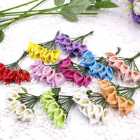 Mini 144PCS (2.5 cm/a) simulation artificial PE foam calla lily flowers wedding decoration DIY gift boxes collage craft supplies