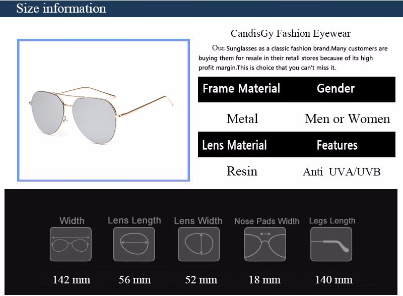 HTB1gRUBNFXXXXagXpXXq6xXFXXXw - Flat Lens Mirror aviation Sunglasses Women Stylish Sun Glasses PTC 296