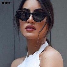 HBK 2018 Fashion Cat Eye Sunglasses Top Quality Women Oversized Luxury Brand Designer Sun Glasses Ladies