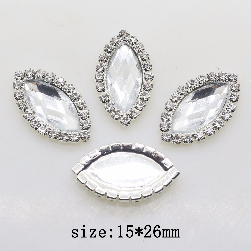 YWXINXI Fashion Promotion 10pcs/set 15*26mm Oval Flatback Rhinestone Accessories  Wedding Invitation Card DIY Craft Decoration