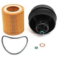 For BMW Engine Oil Filter And Gasket Set Housing Cover Cap Filter Washer For BMW 1