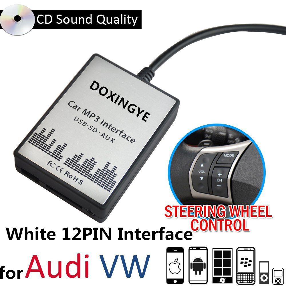 DOXINGYE USB SD AUX Auto <font><b>MP3</b></font> <font><b>Player</b></font> Musik Radio Digital CD Wechsler Adapte Musik Für VW Audi <font><b>Golf</b></font> Skoda Sitz 12Pin Interface image