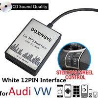 DOXINGYE USB SD AUX Car MP3 Player Music Radio Digital CD Changer Adapte Music For VW Audi Golf Skoda Seat 12Pin Interface