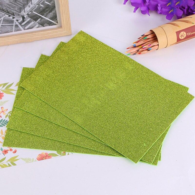 10Pcs diferentes colores brillo Esponja hojas de arte de papel de espuma EVA Soft Touch Craft