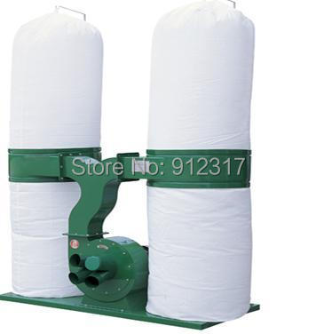 Three Pahse AC380V 3KW Woodworking Duoble Bags Wood Dust Collector