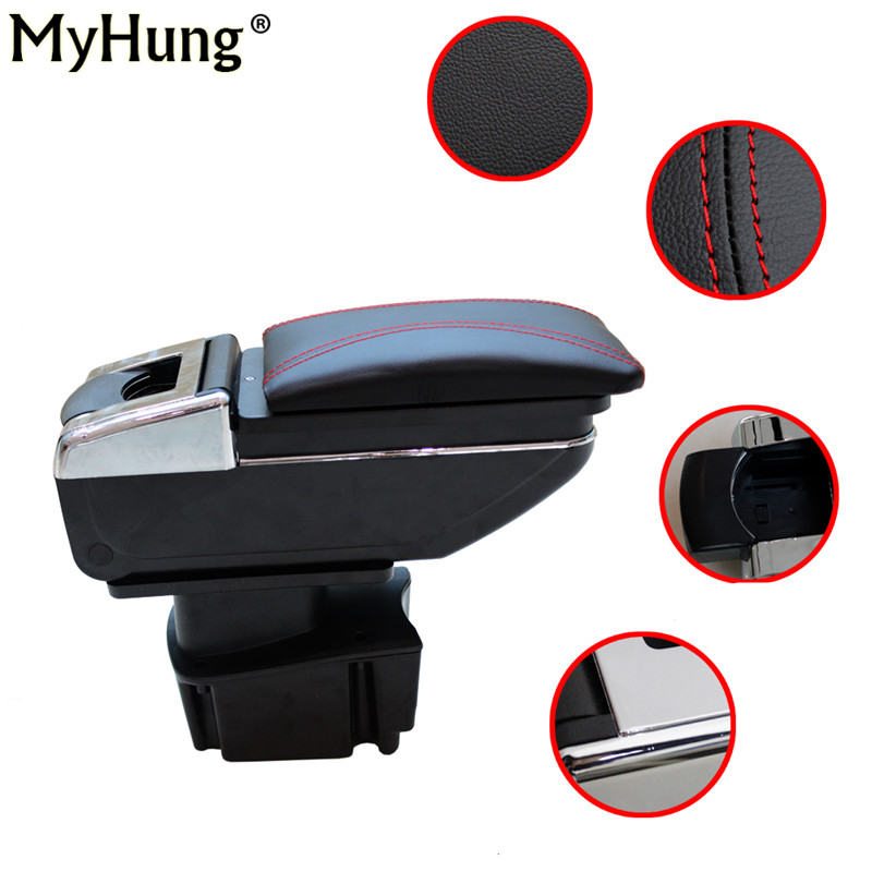 Myhung Car Armrest Center Console Storage Box For KIA Rio K2 2011 2012 2013 2014 2015 Auto Accessories Car-Styling car armrest box central store content box products armrest storage center console accessories for ford ecosport 2013 2014 1pc