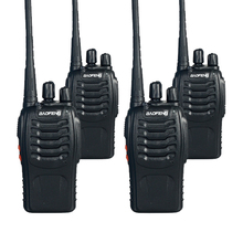 4 PCS Baofeng BF-888S Dual Band Two Way Walkie Talkie 5W Handheld Pofung bf 888s Two Way Radio 400-470MHz UHF Radio Scanner