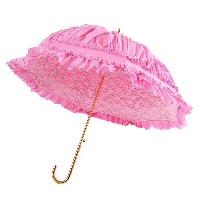 Boutique Double couches dentelle parapluie princesse demoiselles d'honneur parapluie fête mariage mariage mariage artisanat parapluie