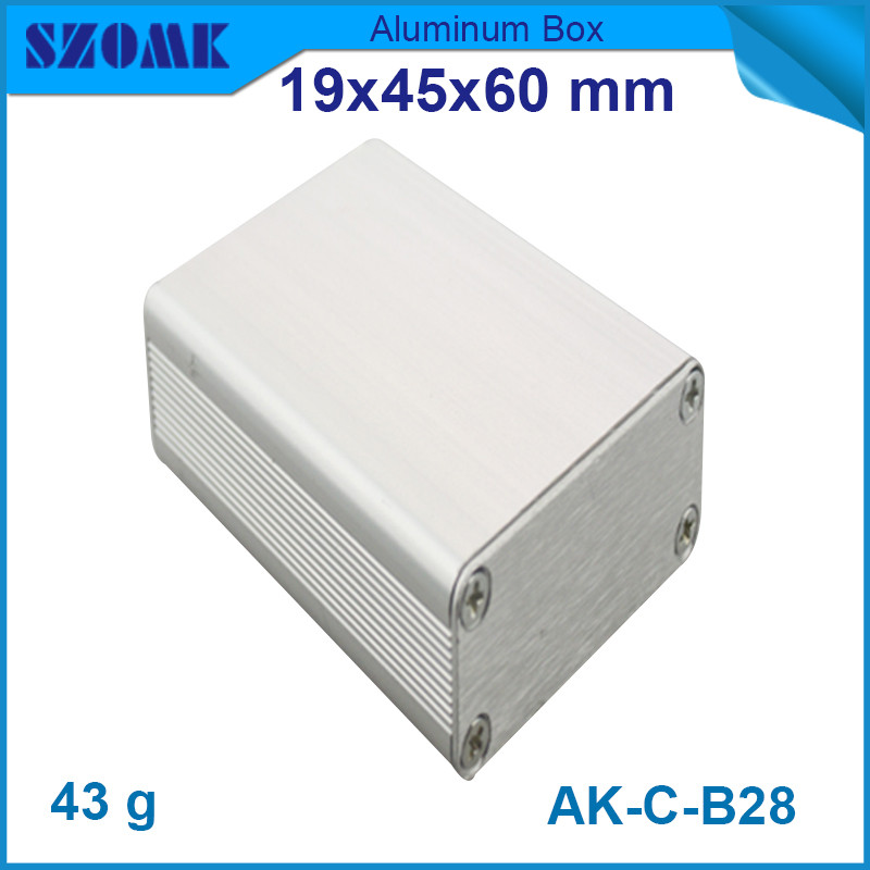 2pcs/lot free shipping electronic distribution box aluminum material metal junction case 19*45*60mm 4pcs a lot diy plastic enclosure for electronic handheld led junction box abs housing control box waterproof case 238 134 50mm