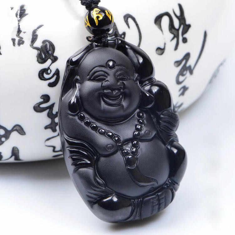 قبول قطرة الشحن مجوهرات سبج طبيعي بوذا maitreya جاديس قلادة قلادة
