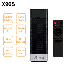 New X96S Mini PC Android 8.1 TV stick Amlogic S905Y2 2G+16G 4G+32G ROM 2.4G&5GHz Dual Wifi BT4.2 4K HD Smart Media Player TV box стоимость