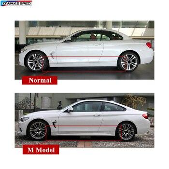 עבור BMW 4 סדרת F32 F33///ביצועים X2 דלת צד חצאיות מדבקות רכב גוף סיבי פחמן מדבקת ספורט ראסינג סטיילינג