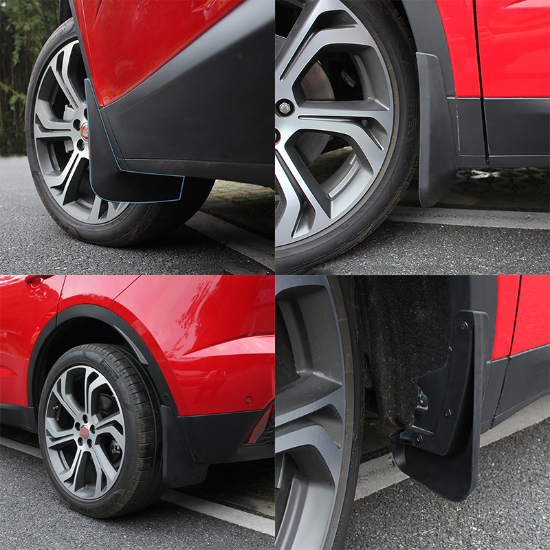 Car styling accessories 3pcs set Mud Splash Flap Guard Mudguard Protector Fender fit For Jaguar E