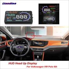 купить Liandlee Car Head Up Display HUD For Volkswagen VW Polo 6th 2018 Safe Driving Screen OBD II Speedometer Projector Windshield дешево