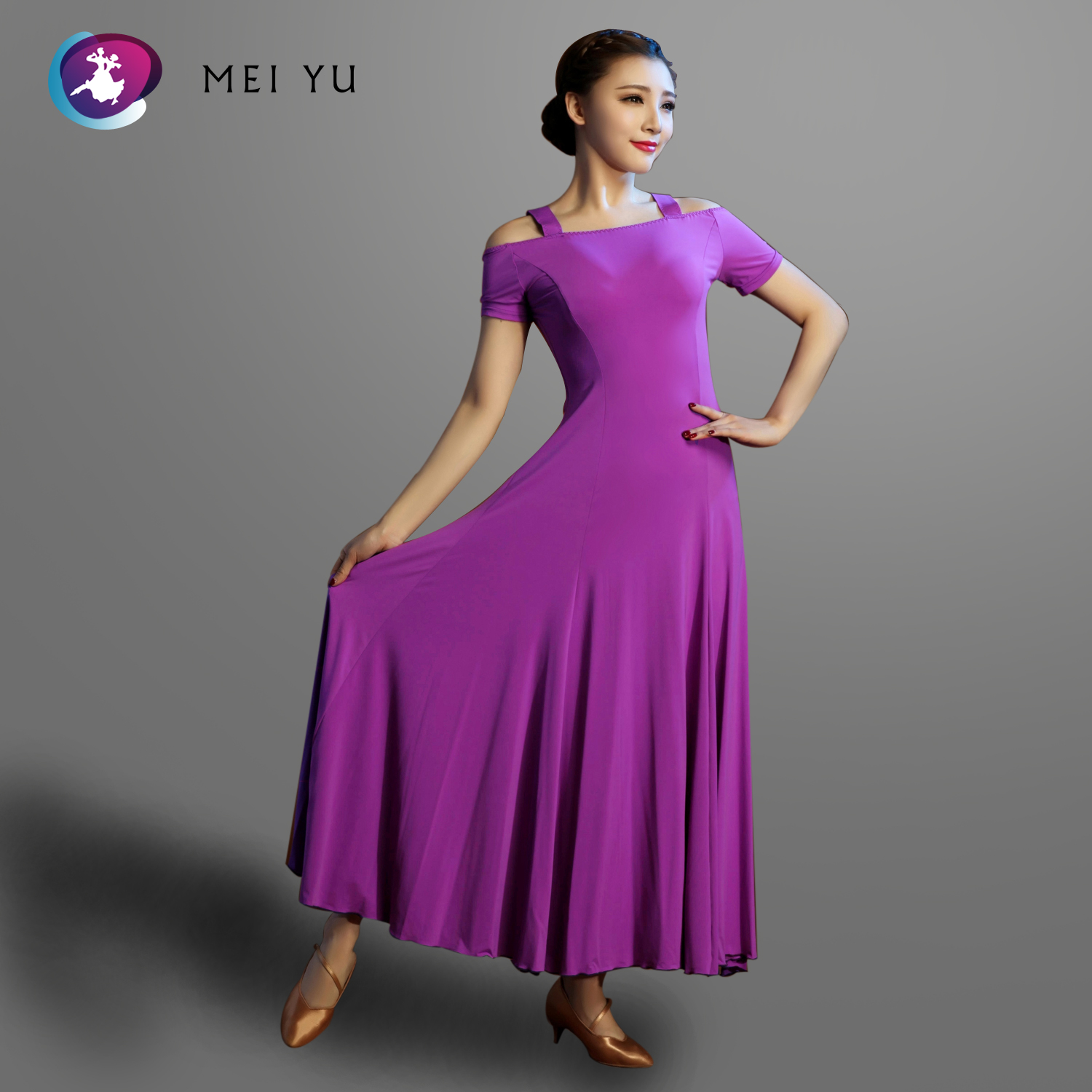 Ballroom Mei Yu Hb035 Modern Dance Costume Women Lady Adult Waltzing Tango Dancing Dress Ballroom Costume Evening Party Dress Relieving Heat And Sunstroke Stage & Dance Wear