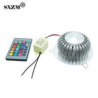 1W Or 3W RGB Color Led Wall Light Aluminum Lantern Lamp With Remote Control AC85 265V