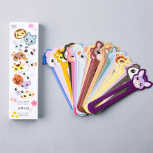 30 pcs box Animal farm scale shape bookmark paper bookmarks kawaii stationery school supplie papelaria kids