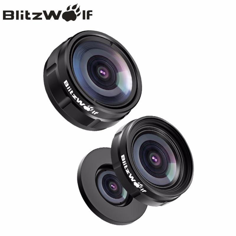 bilder für BlitzWolf Mini Clip-on Optic Handy-kamera Lens Kit 230 Grad Fisheye-objektiv + 0.63x Weitwinkel + 15x Makro-objektiv Mit Clip