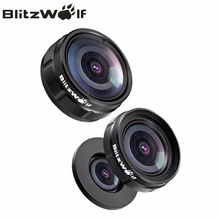 BlitzWolf Mini Clip-on Optic Mobile Phone Camera Lens Kit 230 Degree Fisheye Lens + 0.63x Wide Angle + 15x Macro Lens With Clip