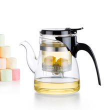 Heatproof Hand blowing Separate Type Glass Teapot with Tea Filter High Quality