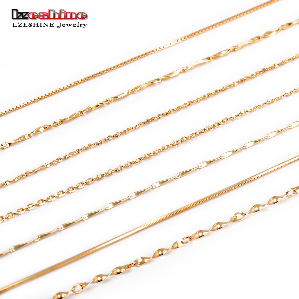 LZESHINE Hot Sale S925 Basic Chain Necklace Lobster Clasp Simple Fashion Necklace Jewelry Men Women Basic Necklace 45cm T030030