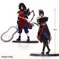 2pcs/set 18cm Naruto Sasuke Uchiha Madara Action Figure With Base Japan Anime Collections Gifts Model Toys #F