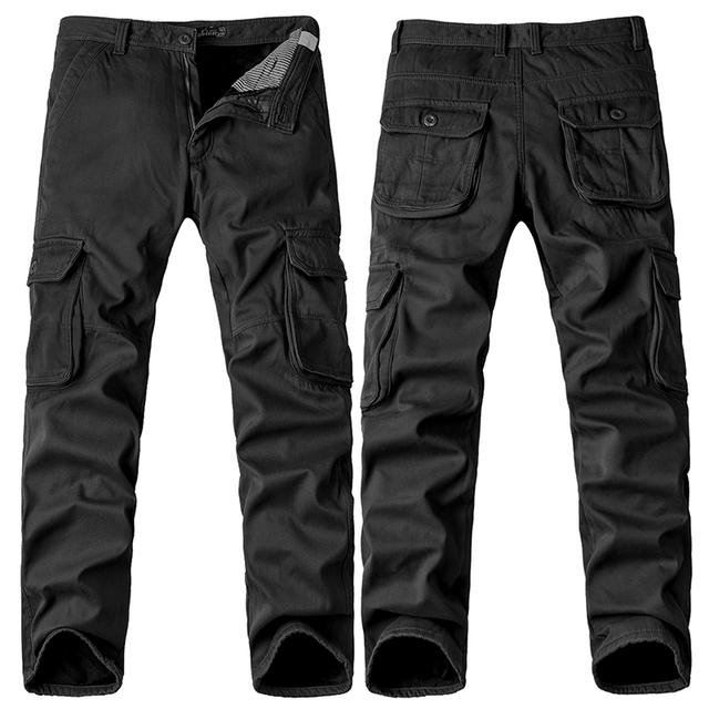 2017 Nuevos hombres de Algodón de Hombre Casual de Camuflaje Táctico Uniforme Militar de Lana Pantalones Cargo de Los Hombres Militares Pantalones Más El Tamaño 40 caliente