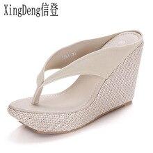 XingDeng Ladies Flock Sandals Shoes Large Size 33-41 Fashion