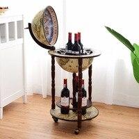 Goplus 17 деревянный глобус винный бар стенд ликер Бутылка Полка Корзина 16 века итальянский винный шкаф HW58775
