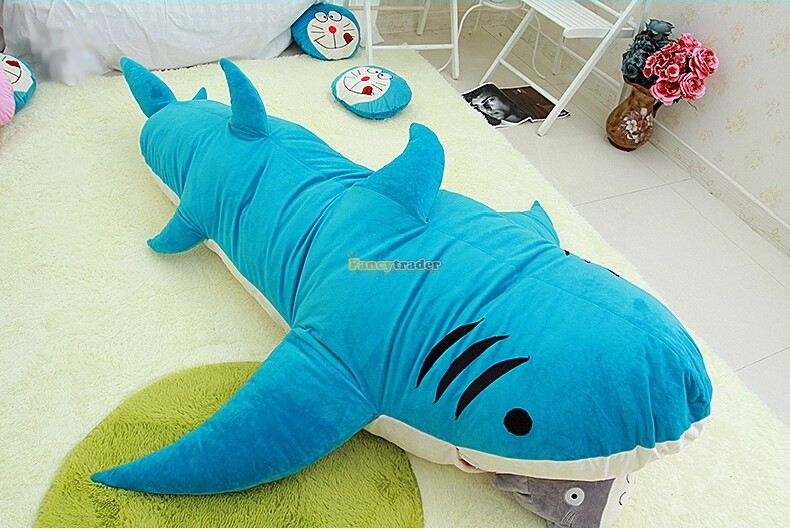 Fancytrader New Style High Quality Shark 200cm X 140cm Huge Giant Shark Bed Carpet Sofa Tatami, 2 Colors! Free Shipping FT90358