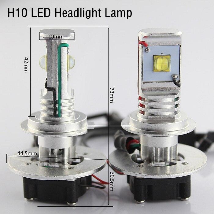 ФОТО 2X 3000LM U.S. 30w CREE H10 led headlight lamp dc 12v 24v h10 cree led head light lamp Hi/Lo auto H10 led Car Light Source
